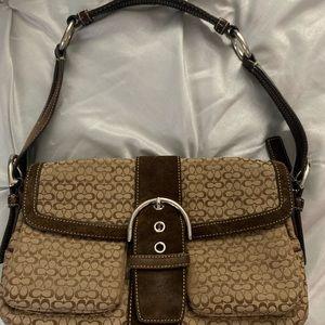 Coach shoulder bag w matching wallet